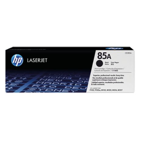 HP 85A Black Original LaserJet Toner Cartridge (For LJP1102, M1132, M1212)