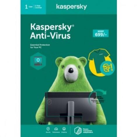 Kaspersky Anti-Virus 2021 (1 User / 1 Year License -PC)