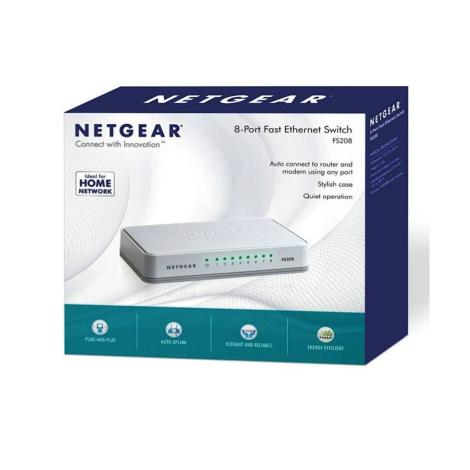 Netgear FS208V2 8 Port 10/100 Unmanage Switch