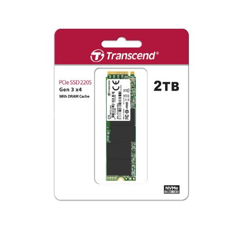 Transcend 2TB 220S NVMe M.2 2280 PCIe Gen3x4 With Dram Cache Internal SSD